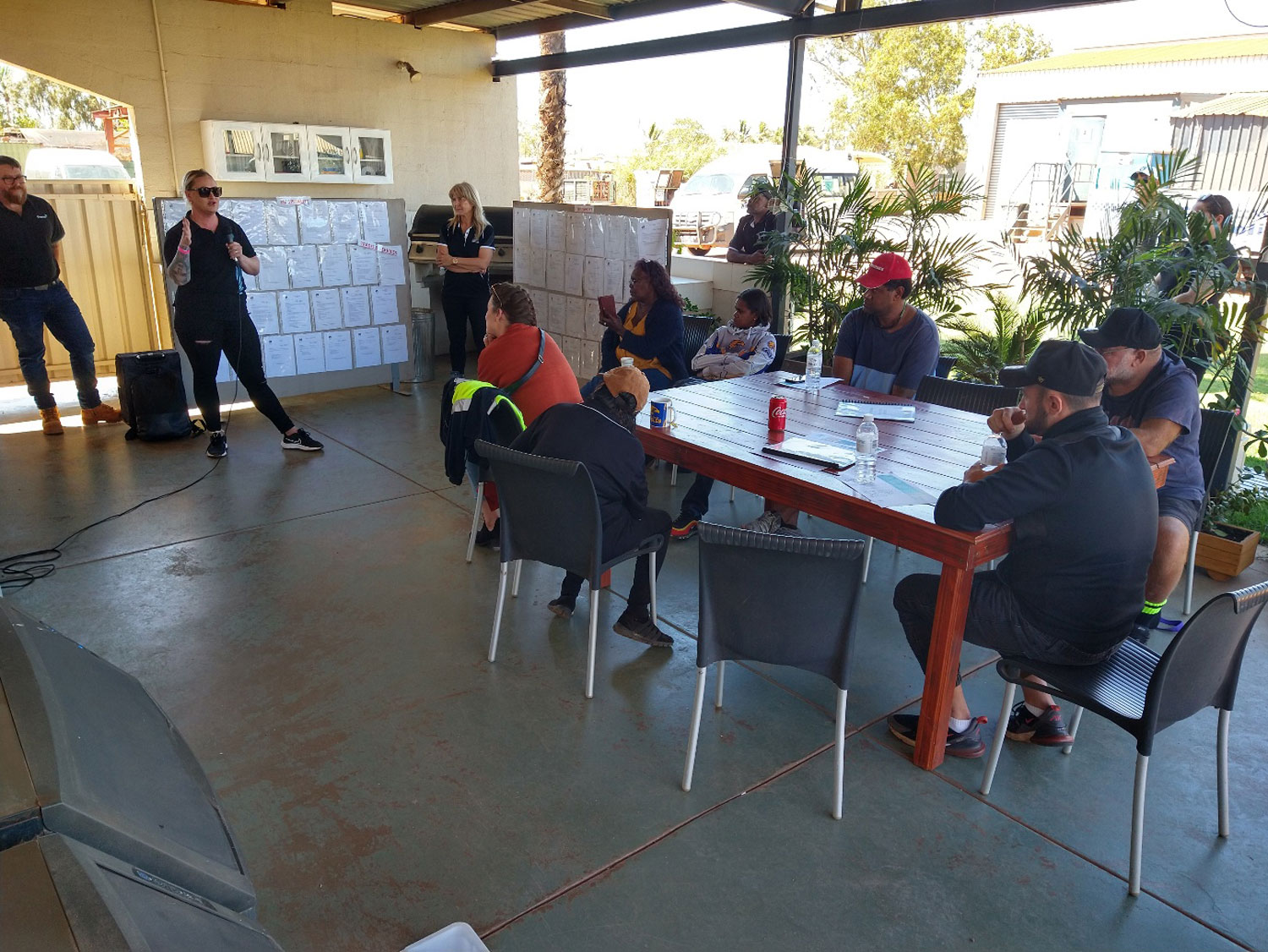 job seekers attend information session